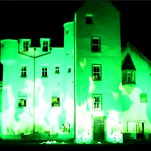 Lighting and Video Projection at Erchless Castle, near Beauly. 4 April 2017.