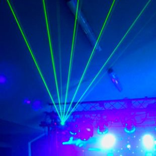 4 x 100mW Green Lasers